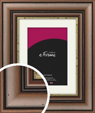 Knotted Dark Brown Picture Frame & Mount (VRMP-180-M)