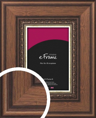 Wide Traditional Pattern Brown Picture Frame, 10x15cm (4x6