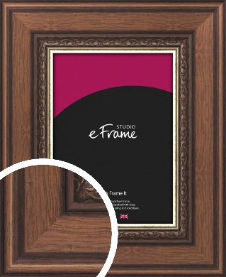 Wide Traditional Pattern Brown Picture Frame (VRMP-325)