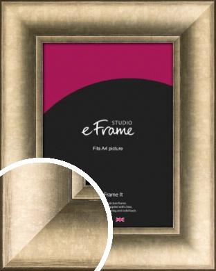 Wide Light Burnished Bronze / Copper Picture Frame, A4 (210x297mm) (VRMP-1012-A4)