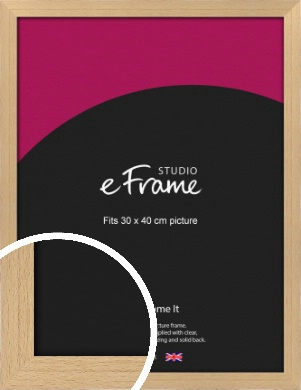 Gallery Natural Wood Picture Frame, 30x40cm (VRMP-438-30x40cm)