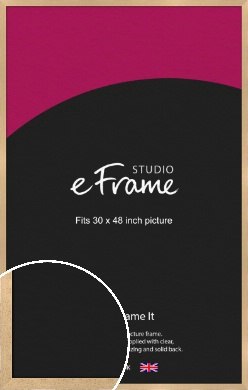 Gallery Natural Wood Picture Frame, 30x48