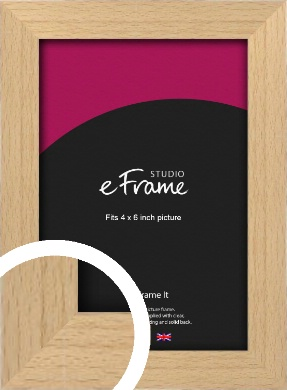 Gallery Natural Wood Picture Frame, 4x6
