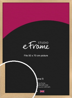 Gallery Natural Wood Picture Frame, 50x70cm (VRMP-438-50x70cm)