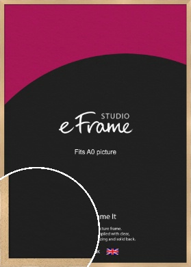 Gallery Natural Wood Picture Frame, A0 (841x1189mm) (VRMP-438-A0)