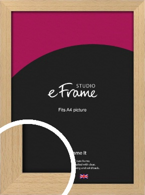 Gallery Natural Wood Picture Frame, A4 (210x297mm) (VRMP-438-A4)
