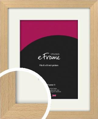 Gallery Natural Wood Picture Frame & Mount, 6x8