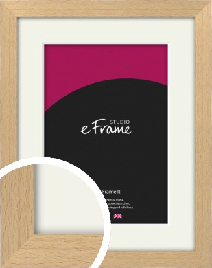 Gallery Natural Wood Picture Frame & Mount (VRMP-438-M)