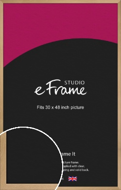 Mellow Natural Wood Picture Frame, 30x48