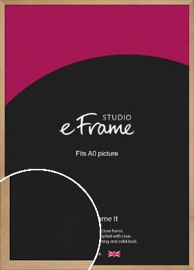 Mellow Natural Wood Picture Frame, A0 (841x1189mm) (VRMP-1017-A0)