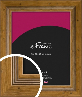 Wide Rustic With Inner Channels Brown Picture Frame, 20x25cm (8x10
