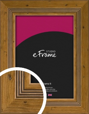 Wide Rustic With Inner Channels Brown Picture Frame (VRMP-1023)
