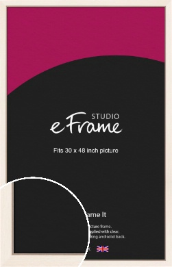 Simple Boxy Cream Picture Frame, 30x48