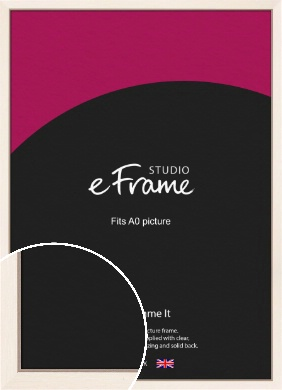 Simple Boxy Cream Picture Frame, A0 (841x1189mm) (VRMP-607-A0)