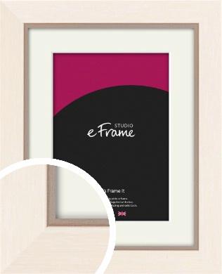 Simple Boxy Cream Picture Frame & Mount (VRMP-607-M)
