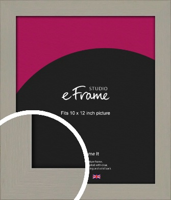 Pebble Grey Picture Frame, 10x12