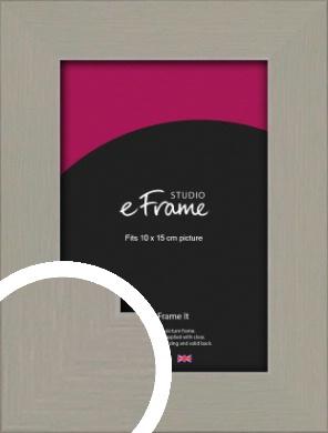 Pebble Grey Picture Frame, 10x15cm (4x6