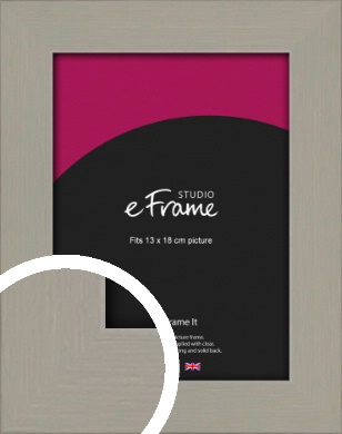 Pebble Grey Picture Frame, 13x18cm (5x7