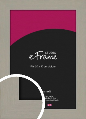 Pebble Grey Picture Frame, 20x30cm (8x12