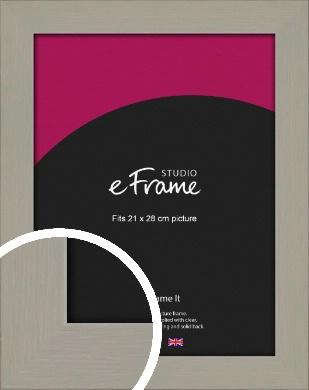 Pebble Grey Picture Frame, 21x28cm (VRMP-1025-21x28cm)