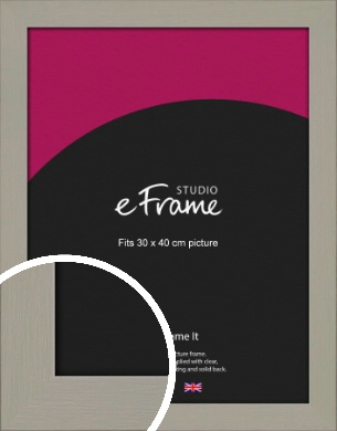 Pebble Grey Picture Frame, 30x40cm (VRMP-1025-30x40cm)