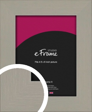 Pebble Grey Picture Frame, 4.5x6