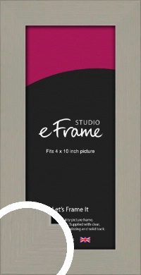 Pebble Grey Picture Frame, 4x10