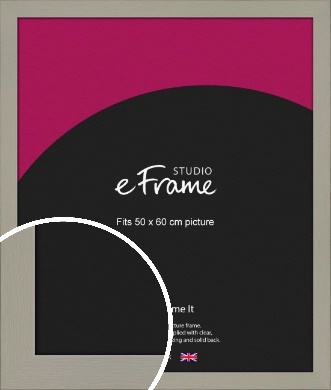 Pebble Grey Picture Frame, 50x60cm (VRMP-1025-50x60cm)