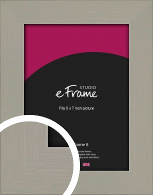 Pebble Grey Picture Frame, 5x7