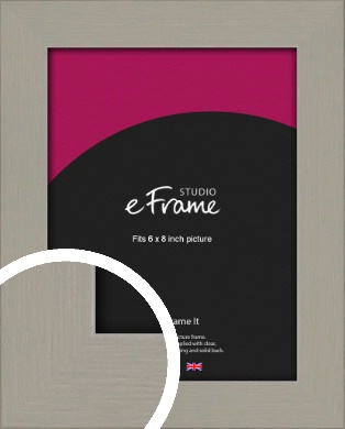 Pebble Grey Picture Frame, 6x8