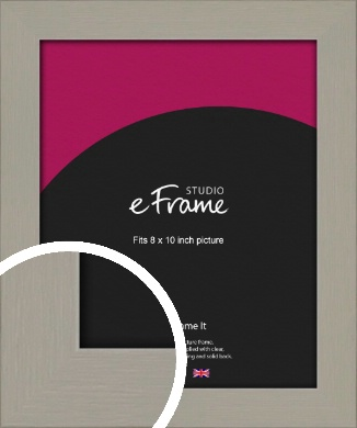 Pebble Grey Picture Frame, 8x10