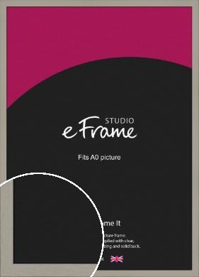 Pebble Grey Picture Frame, A0 (841x1189mm) (VRMP-1025-A0)