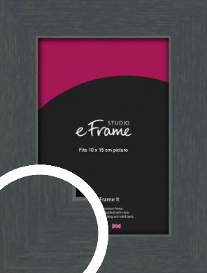 Slate Grey Picture Frame, 10x15cm (4x6