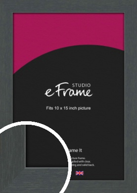 Slate Grey Picture Frame, 10x15