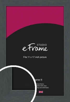 Slate Grey Picture Frame, 11x17