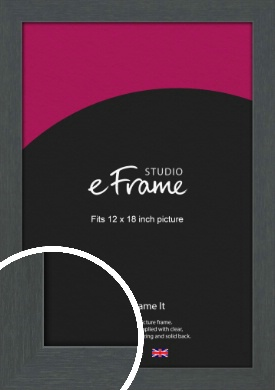 Slate Grey Picture Frame, 12x18