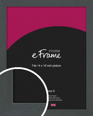 Slate Grey Picture Frame, 14x18