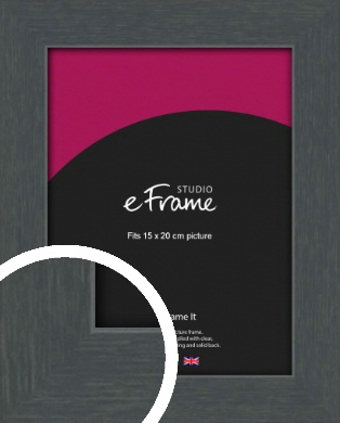 Slate Grey Picture Frame, 15x20cm (6x8