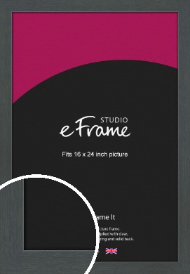 Slate Grey Picture Frame, 16x24