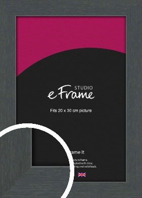 Slate Grey Picture Frame, 20x30cm (8x12