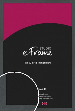 Slate Grey Picture Frame, 27x41