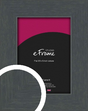 Slate Grey Picture Frame, 3.5x5