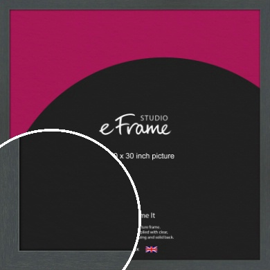 Slate Grey Picture Frame, 30x30