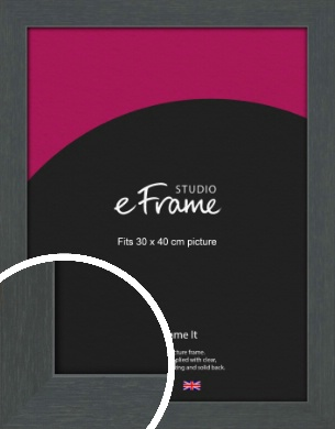 Slate Grey Picture Frame, 30x40cm (VRMP-1026-30x40cm)