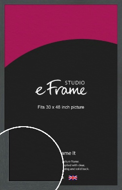 Slate Grey Picture Frame, 30x48