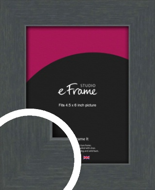 Slate Grey Picture Frame, 4.5x6