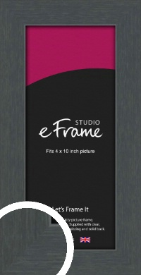 Slate Grey Picture Frame, 4x10