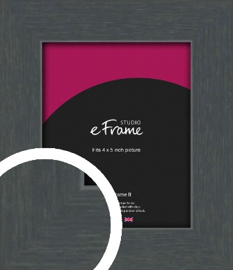 Slate Grey Picture Frame, 4x5