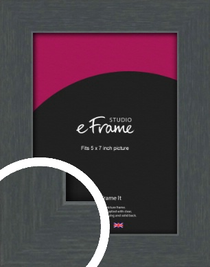 Slate Grey Picture Frame, 5x7
