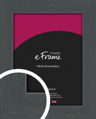 Slate Grey Picture Frame, 6x8